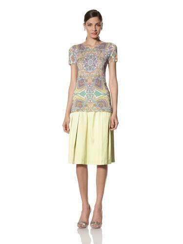 Jonathan Saunders Women's Birch Short Sleeve Star Sweater (Star Multi Pastel)