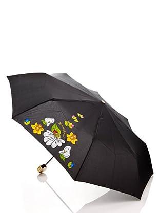 Braccialini Ombrello Fiori nero