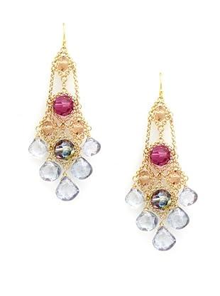 Diane Yang Chandelier Earrings, Gray