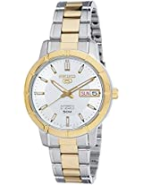 Seiko 5 Analog White Dial Women's Watch - SNK892K1