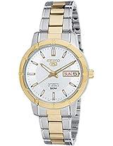 Seiko 5 Analog White Dial Women's Watch - SNK892K1
