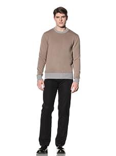 Cruciani Men's Crewneck Sweater (Camel/Grey)