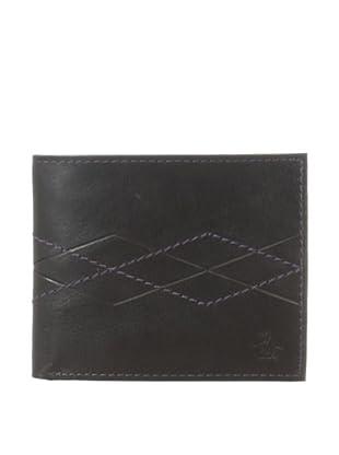 Original Penguin Men's Argyle Leather Wallet (Black)