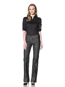 Loro Piana Women's Straight-Leg Denim Pant (Black)