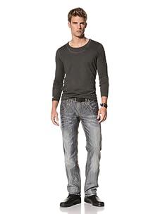 MOD Men's Chris Straight Leg Jeans (Blue Grey)