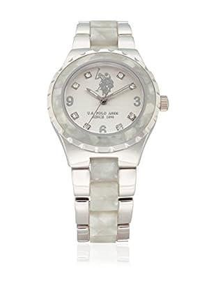 U.S. POLO ASSN. Uhr mit japanischem Quarzuhrwerk Bonny weiß 37 mm