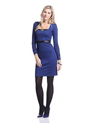Nicole Miller Women's Ponte Square Neck Dress (Royal Blue)