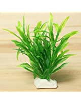 Artificial Plastic Grass Plant Aquarium Tank Decor (Green)