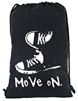 PS Black Multi-purpose Drawstring/String bag_move