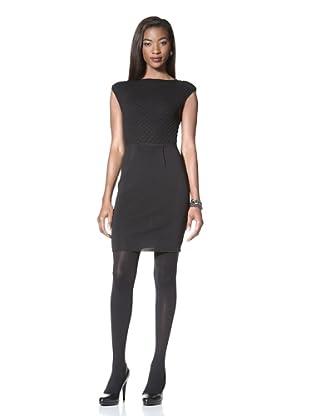 Catherine Malandrino Women's Jewel Neck Knit Dress (Noir)