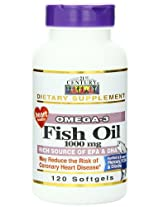 21st Century Fish Oil 1000 Mg Softgels, 120-Count