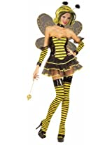 Forum Queen Bee Costume, Black/Yellow, Small/Extra Small