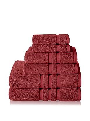 Chortex of England Irvington 6-Piece Towel Set, Burgundy