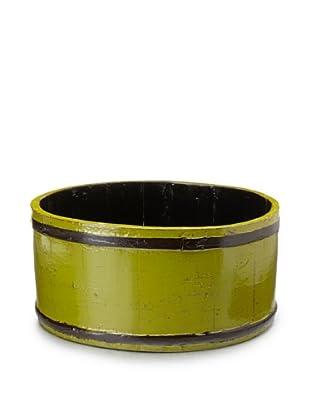 Royola Pacific Short Round Wooden Bucket (Apple Green)