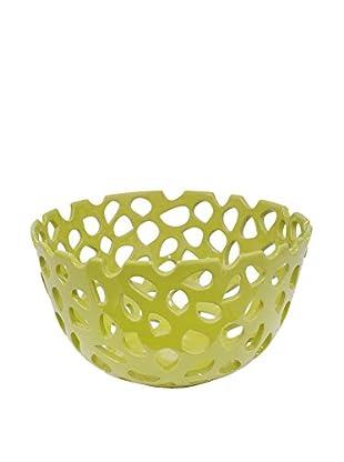 Three Hands Pierced Bowl, Green