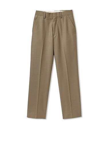 Ike Behar Boy's 8-20 Flat-Front Dress Pants (Taupe)