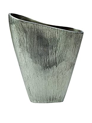 Torre & Tagus Lined Aluminum Pinch Vase (Silver)