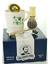 Colonel Conk Model 240 A Shave Mug, Pure Badger Brush, Gold Tone Razor, and Soap