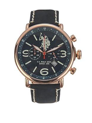 U.S. POLO ASSN. Uhr mit japanischem Quarzuhrwerk Blaze schwarz 44 mm
