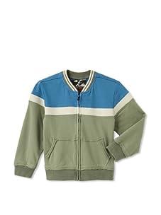 Kapital K Boy's French Terry Zip Jacket (Antique Blue/Oil Green)