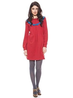 La Casita de Wendy Vestido Manga Larga (azul/rojo)