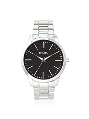 Breda Men's 1636 Grant Silver/Black Alloy Watch