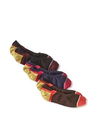 Florsheim by Duckie Brown Men's No-Show Socks - 3 Pack (Assorted)