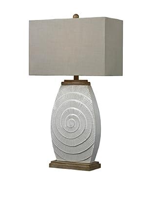 HGTV Home Off-White Glazed Ceramic Table Lamps