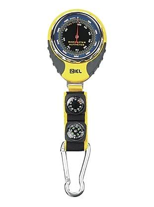 Ziel Taschen-Höhenmesser + Kompass und Thermometer gelb