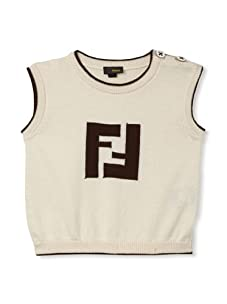 Fendi Kid's Sleeveless Sweater (Beige/Brown)