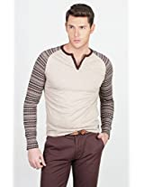 Basics Brown Plain Men T shirt 13Bts29725