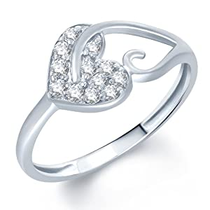Sukkhi Pleasing Rhodium Plated CZ Ring Size 15 For Women