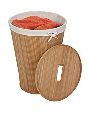 Honey-Can-Do Nested Bamboo Hamper with Lid, Natural/Cream