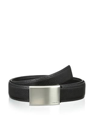 Calvin Klein Men's Stitched Strap Belt (Black)