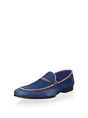 Donald J Pliner Men's Vian Loafer (Navy/Denim)