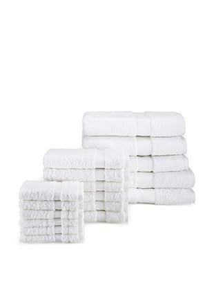 Chortex Rhapsody Royale 17-Piece Bath Towel Set, White