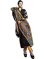 Pairahan Women Cotton Dress Material (Cpc009 _Black)