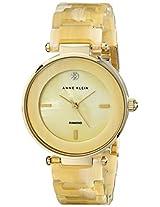 Anne Klein Womens AK/1838CMHN Diamond-Accented Horn Resin Bracelet Watch