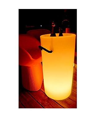 Artkalia Bottela Wireless LED Tall Champagne Bucket, White Opaque