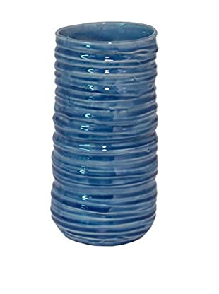 Three Hands Ceramic Vase, Ocean Blue