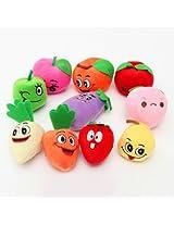 10 Pcs Plush Finger Puppets Doll Fruits Vegetables Sets Baby Toys
