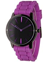 New Geneva Purple w/ Black Silicone Watch