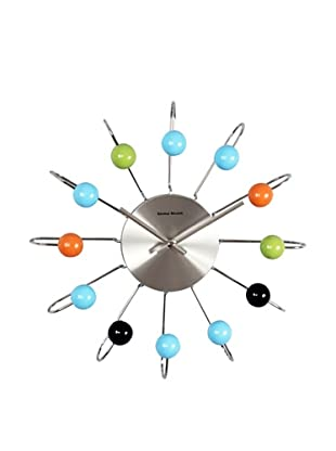 Verichron Atomic Ball Wall Clock, Multi/Silver