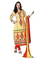 De Marca Yellow Yellow 8567 Dress Material