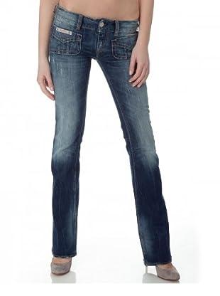 Herrlicher Jeans Lucky Denim Stretch Low Rise (Mittelblau)