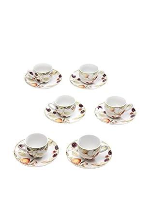 Tognana Kaffeetasse mit Untertasse 6er Set Metropolid Cordoba