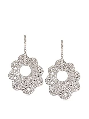 CZ by Kenneth Jay Lane Spinning Floral Pavé CZ Dramatic Earrings