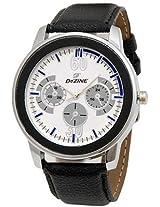 Dezine Analog Men's Watch - DZ-GR909-WHT-BLK