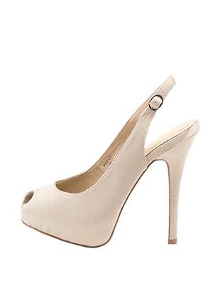 Rizzo Zapatos Peep Toe (Beige)