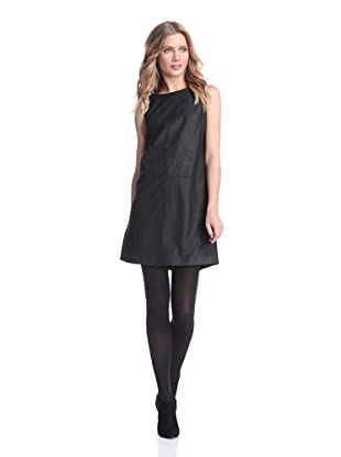 Bagatelle City Women's Perforated Leather Dress (Black)
